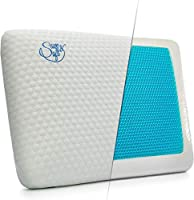 Memory Foam Pillow with Cooling Gel - Orthopedic Pillows Prevent Back and Neck Pain - Bamboo Washable Cover Infused Aloe...