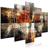 murando Cuadro en Lienzo Abstracto 200x100 cm Impresión de 5 Piezas Material Tejido...