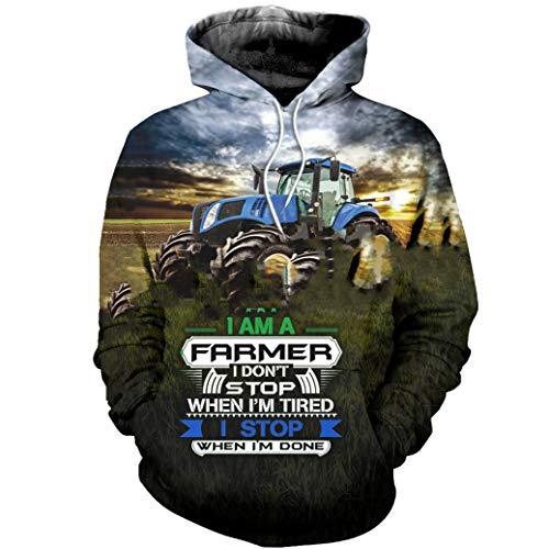 KETUREIR Arbeiter Bauer Traktor 3Dprint Pullover Streetwear Casual Trainingsanzug Hoodies Männer