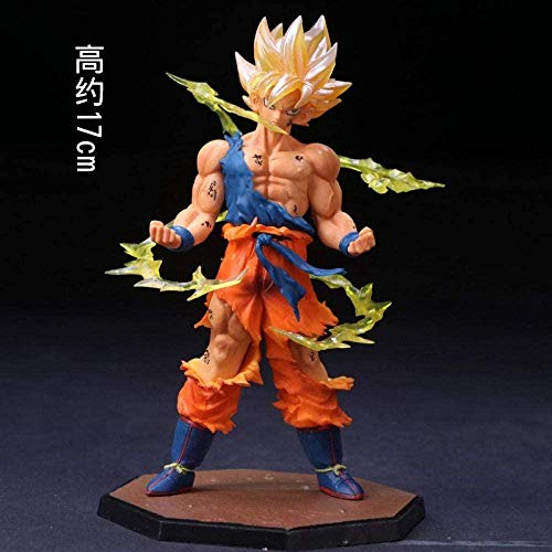 YYHJ Dragon Ball Goku Vegeta Tranx Vlissa Handgemachter Super Saiyajin-Teufel Buu -50909_Combat-mächtiger Goku-Freund Figur -Soul-Goku Puppe Modell Ornamente Statue