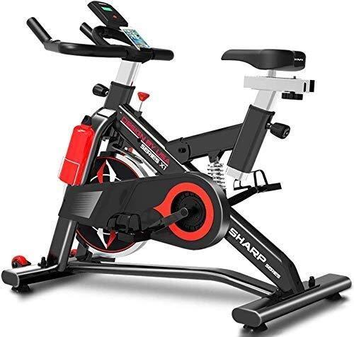 XUSHEN-HU Prima de Cubierta Entrenamiento aeróbico Ciclo de la Bici de Ejercicio Cardio Fitness Entrenamiento Máquina Volante - con el Sensor de la Mano y el Asiento Suave Mejorada Interior