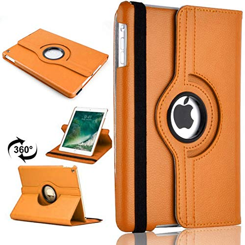 PU Leather Rotate Stand Case Cover For Apple iPad 10.2 2019/2020 8th/7th Gen A2428 A2429 (Orange)