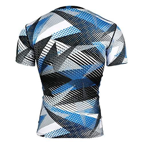 Unisex 3D Druckten Sommer-beiläufige Kurze Hülsen-T-Shirts T-Stücke Mode für Männer Kurzarm Yoga Fitness Print Casual T-Shirt Sport Top Bluse