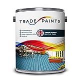 Garden Timber Decking Non Slip (Anti Slip) Paint (5 Litre, Battleship Grey BS18B25)