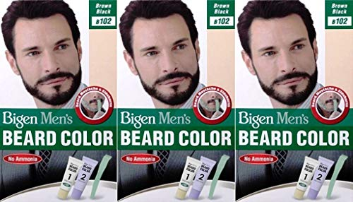 Bigen Mens Beard Colour B102 Brown Black (Pack of 3)
