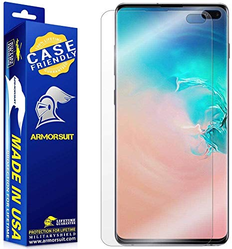 ArmorSuit MilitaryShield Screen Protector Compatible with Samsung Galaxy S10+ Plus (Case Friendly) Anti-Bubble HD Clear Film