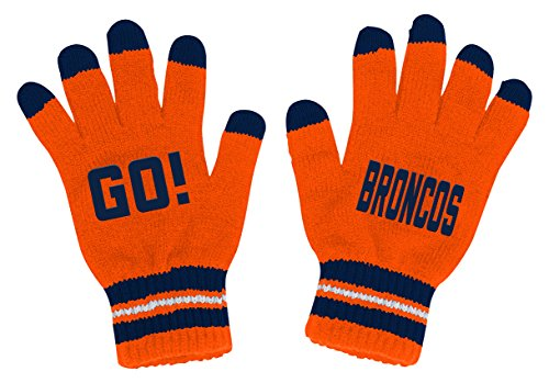 Outerstuff NFL Youth Boys Touch Screen Go Gloves-Orange-1 Size, Denver Broncos