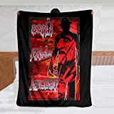 Freddy Krueger Don't Fall Asleep Flannel Blanket Throws Pattern Decorative Lightweight Cozy Soft Warm Bed fit Sofa Couch Office Camping (50 x 60 inch)