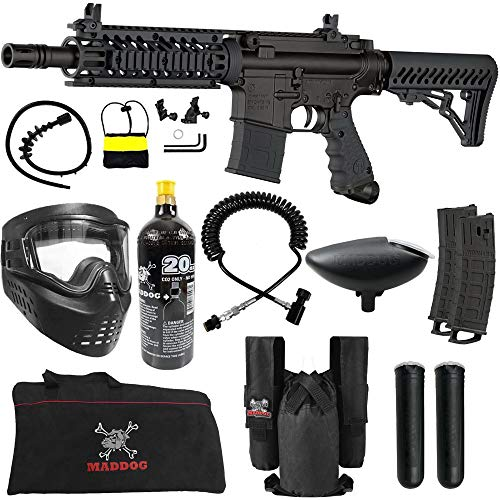 Maddog Tippmann TMC MAGFED Private CO2 Paintball Gun Starter Package - Black