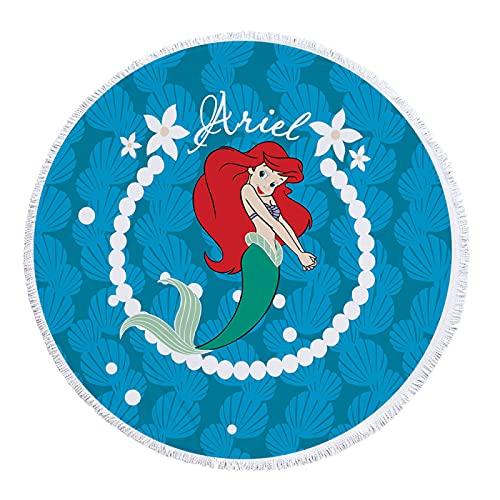 Impresión Digital De Dibujos Animados Toalla De Playa Redonda Toalla De Baño De Microfibra Alfombra De Playa Absorbente A Prueba De Arena De Secado Rápido con Borlas 150 * 150cm