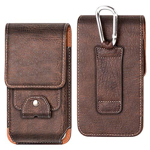 Shidan Vertikale PU Leder Gürteltasche Gürtelclip und Gürtelschlaufe für iPhone 11 Pro/XS/X/8/7, Galaxy S10e S7 S6 S5 (Passt zu Slim Case)