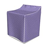 Lunarable Abstract Washer Cover, Diagonally Designed Squares with Four Side Blooms Violet Tones, Suitable for Dryer and Washing Machine, 29' x 28' x 40', Blue Violet Purple