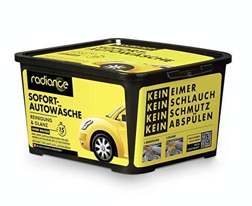 Radiance Auto Reiniger Auto Schaum Autoshampoo Autowaschset Trocken Wasserabweisender Auto Politur und Glanz Ohne Wasser 3 Stück mit 2 Mikrofaser Tücher
