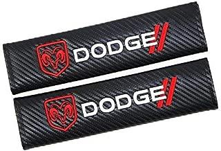 Bearfire Car Seat Belts Covers Padding Carbon Fiber Leather Belt Shoulder Sleeve for Dodge Accessories