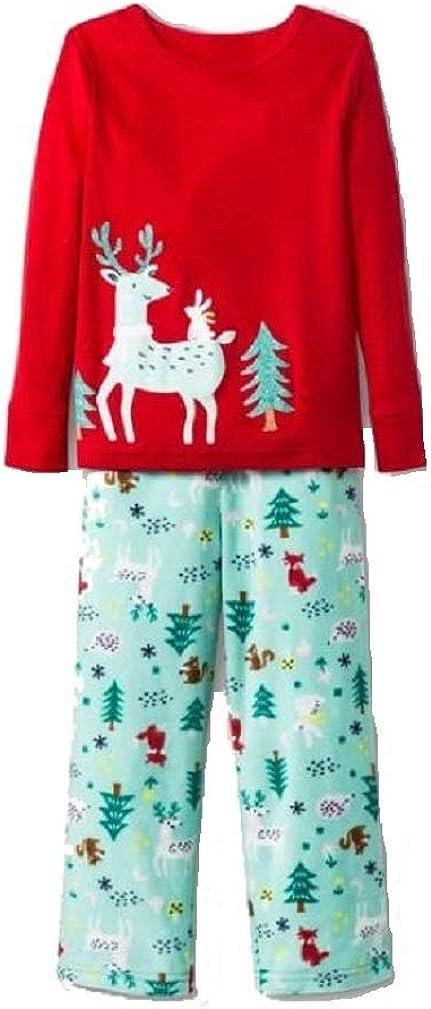 Cat & Jack Girls 2pc Reindeer Pajama Set