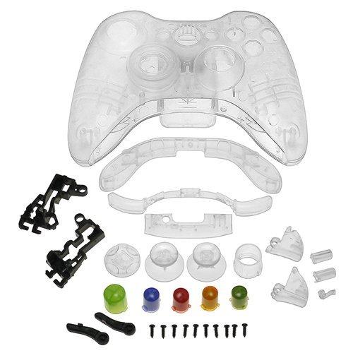TOOGOO(R) Kristall Gehaeuse Kompatibel mit Microsoft Xbox 360 Wireless Controller - Klar