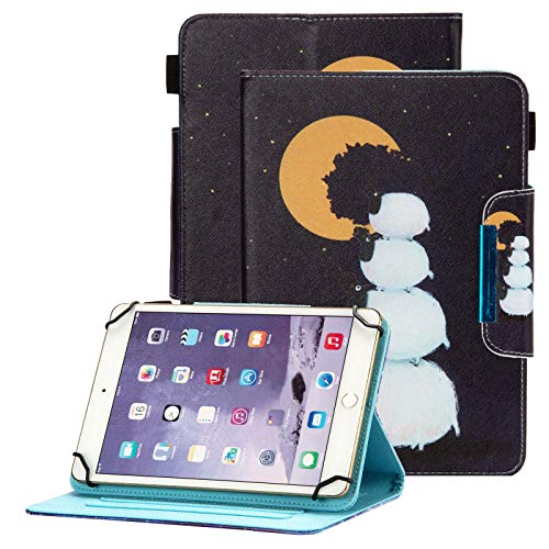 Popbag Universal Case for 7 Inch Tablet - Stand Wallet Fold Cover for Galaxy Tab 7' / Dragon Touch 7' / Fire 7' / Onn 7' / RCA Voyager 7.0 / HDX 7 / Huawei T3 / Lenovo Tab 7 Inch Tablet, Cute Sheep