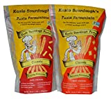 Kaslo Sourdough Pasta Combo - Fermented Pasta High Protein, Vegan Food with Probiotics & Sour Dough Starter | Easy Digestion Superfood | Classic Rotini Pasta & Pasta Radiatori Pack
