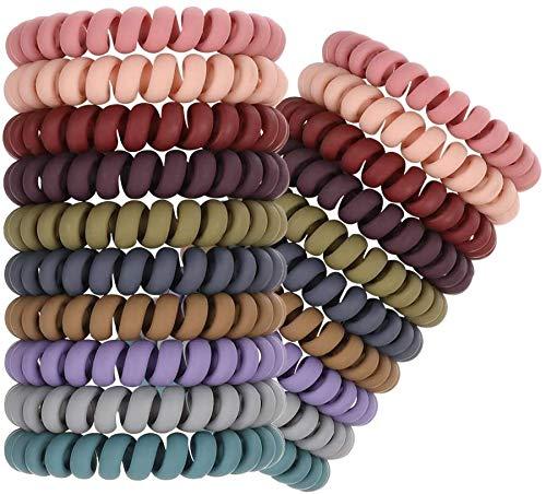 Firtink 20 Stück Spiral-Haargummis Telefonkabel Haarband Pferdeschwanz-Halter für Frauen und Mädchen