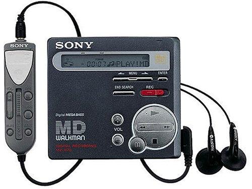 Sony MZ-R70/B tragbarer MiniDisc-Player matt-schwarz