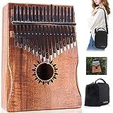 Kalimba Thumb Piano 17 Key, Portable Mbira Wood Finger Piano with 2 Bag and Sheet Music, Gifts for Kids Adult...