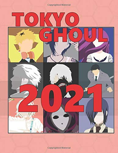 Tokyo Ghoul: Monthly Colorful Anime Calendar, Pictures, Quotes, Tokyo Ghoul, 8.5' x 11', This'll be my year!