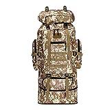 登山リュック 超大容量100L 軍用 迷彩 防水 ミリタリー オックスフォード キャンプ 多機能 リュック アウトドア 旅行 超軽量 男女兼用 (100L-迷彩)