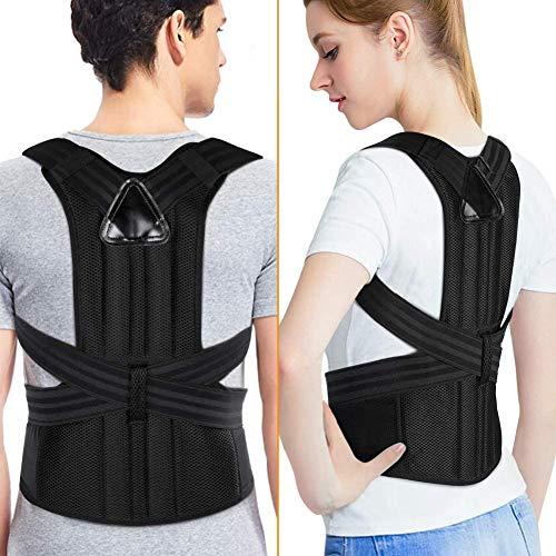 Correttore postura per schiena e schiena per donne e uomini, supporto per raddrizzatore ortesi clavicola per slouching, curvatura, sollievo dal dolore al collo e cinghie di correzione
