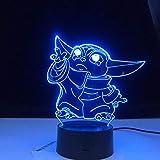 Lámpara de noche LED Touch Baby Yoda Última figura de Star Wars para niños...