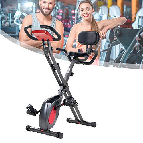 ZhiLianZhao Bicicleta De Fitness Plegable, Bicicleta Estática Spinning, Respaldo Alto, Conveniente para Ver la Televisión Cuando Está en Bicicleta