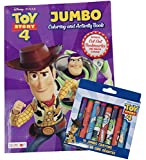 New Children's Jumbo Coloring & Activity Book Bonus Cutout Bookmarks & Jumbo Crayons Featuring Toy Story 4 & Lion King (Toy Story 4)
