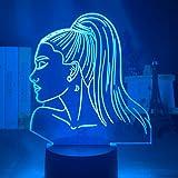 Luz nocturna 3D cantante Ariana Grande regalo luz led sensor táctil cambio de...
