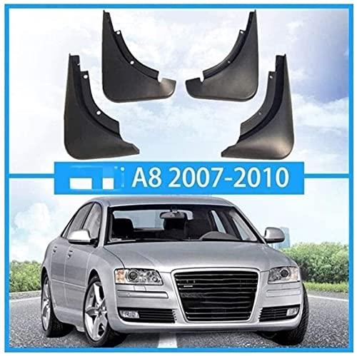 4 piezas Coche Faldillas antibarro para Audi A8 Sport 2007-2020, Resistentes Al Desgaste AnticolisióN Fender Accesorios CarroceríA