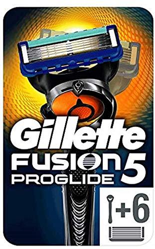 Gillette Fusion 5 ProGlide Rasierer Herren mit Trimmerklinge für Präzision und Gleitbeschichtung, Rasierer + 6 Rasierklingen