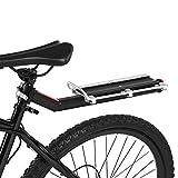 Piaobaige Portabiciclette Ripiano Posteriore per Bicicletta Deposito Bagagli Portapacchi Posteriore Bici da Strada Supporto da carico MTB con Piastra Riflettente Leggera