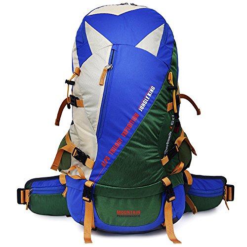WuJiPeng Sac à Dos D'alpinisme Multifonctionnel De Grande Capacité De 50L Sac à Dos De Camping De Plein Air De Randonnée Imperméable Et Loisirs,C