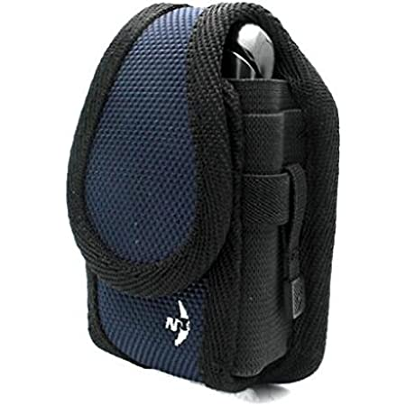 Authentic Blue Nite-IZE Cargo Case Rugged Canvas Cover Belt Clip Holster for Verizon HTC Touch Pro - Verizon Kyocera Cadence - Verizon Kyocera DuraXV - Verizon LG Chocolate 3 VX-8560
