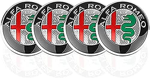 4 Piezas Coche Tapas Rueda Centro Tapacubos para Alfa Romeo Mito 147 156 159 166, Prueba Polvo Repuesto Accesorios