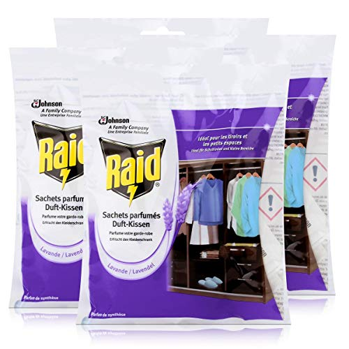 Raid Duft-Kissen Lavendel 18x1,5g - Duft für bis zu 2 Monate (4er Pack)