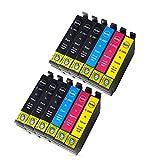 Ouguan Cartuchos de Impresora Compatibles con Epson 29XL 29 para Epson Expression Home XP-255 XP-257 XP-352 XP-355 XP-452 XP-455 XP-235 XP-332 XP-335 XP-432 XP-435 Pack de 12