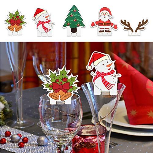 TUPARKA 25PCS Decoraciones de Mesa de Cristal de Navidad Decoraciones de Mesa para Suministros para Fiestas de...