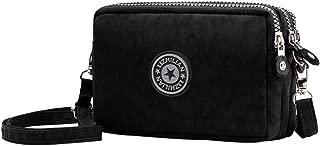 Cell Phone Purse 3 Layers Zipper Handbag Nylon Crossbody Shoulder Bags Phone Pouch Case Wrist Bag