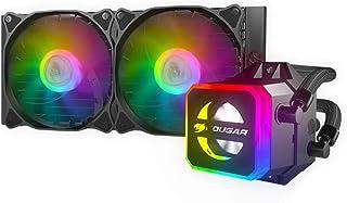 تبريد سائل كوغار هيلور لوحدة المعالجة المركزية مع Addressable RGB و Core Box v2 وجهاز تحكم عن بعد (240)