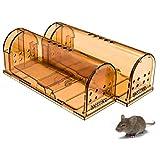 Mousetrap Live, caja para atrapar ratones, trampa para atrapar en vivo, trampa para ratas, trampa reutilizable para ratones, en vivo, con orificios de aire, para atrapar ratones vivos, 2 piezas