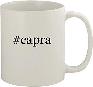 #capra - 11oz Ceramic White Coffee Mug, White