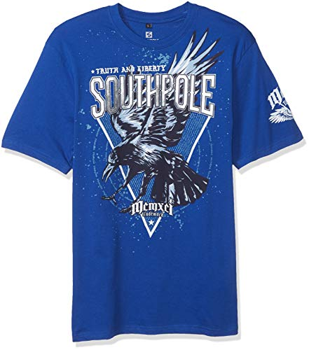 Southpole Men's Classic Graphic Tee, Royal Eagle, X-Large