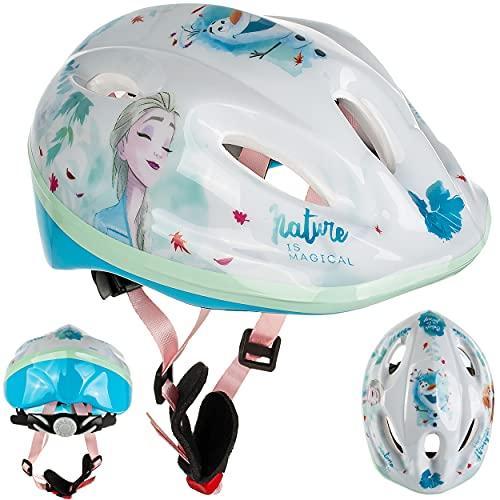 alles-meine.de GmbH Kinderhelm / Fahrradhelm - Disney die Eiskönigin - Frozen - Gr. 52 - 56 - Circa 3 bis 15 Jahre - Größen verstellbar / mitwachsend - TÜV geprüft - Helm - für R..