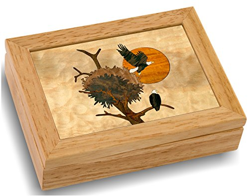Wood Eagle Nest Box - Handmade USA - Unmatched Quality - Unique, No Two are the Same...