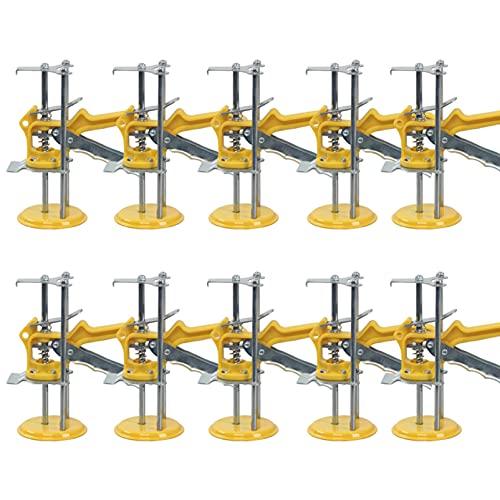 XYEQZ 10 Paquetes Hand Tool Juego De Conectores, 350 Kg Capacidad Panel De La Puerta Gabinete De Elevación Jack, Ajustador De Altura De Teja De Pared