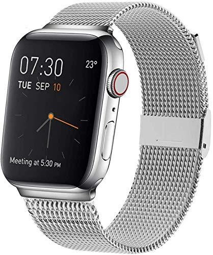 Waband banden compatibel met 38mm/40mm/42mm/44mm Smart Watches, roestvrij stalen kettingen met magneten compatibel met Horloge Series 5/4/3/3/1